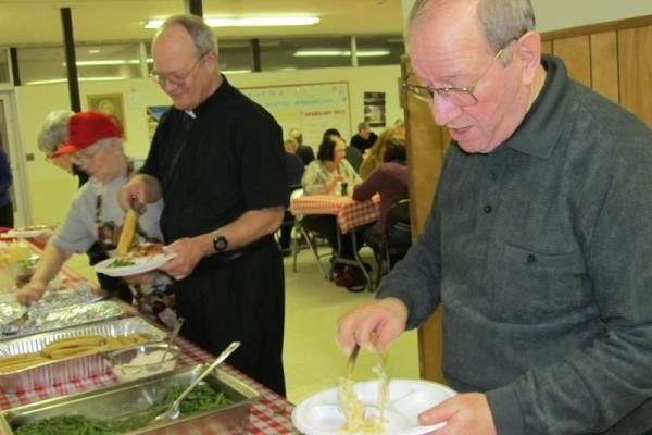 Pasta Dinner with the Priests 2012