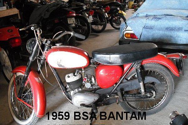 59 BSA Bantam, 68 Triumph T120