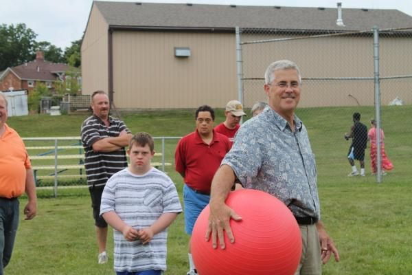 Knights of Columbus Cook and Play Kickball at SLC