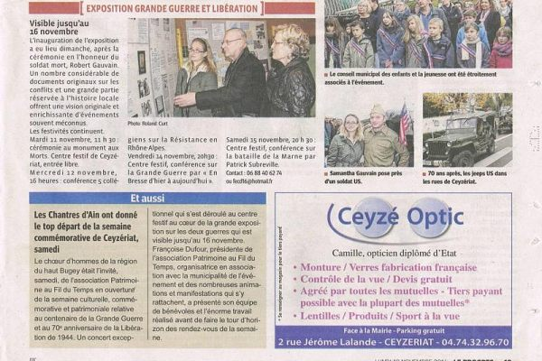 LE 8 / 11 / 2014--CONCERT DE CEYZERIAT