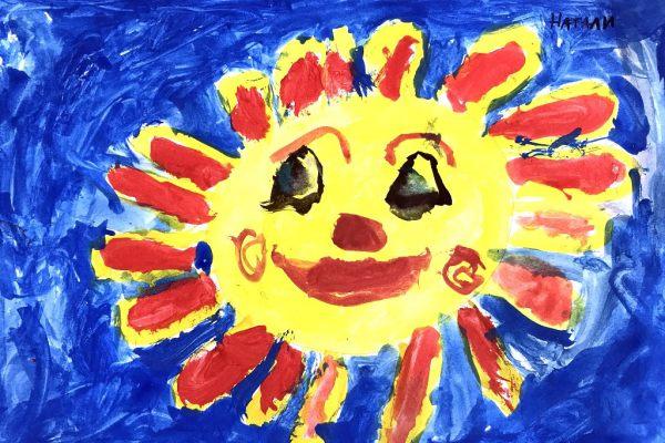 Слънца - изпбрзително изкуство 1 клас