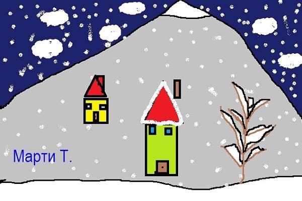 Зима- 1 клас комп. графика