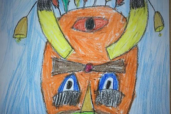 Кукерски маски 1 клас