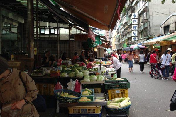 Taiwan market and food