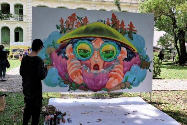 Street Art au Consulat Français de Saïgon,Avril 2021