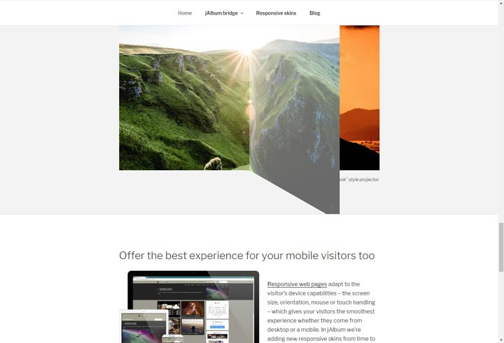 jAlbum - Photo Gallery Website Software